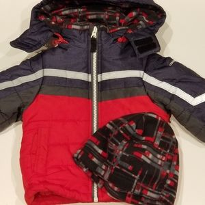 18m snow thick winter Jacket with hat